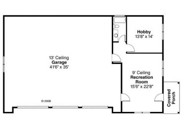 Plan 13 040 just garage plans for Rv garage with living quarters floor plans