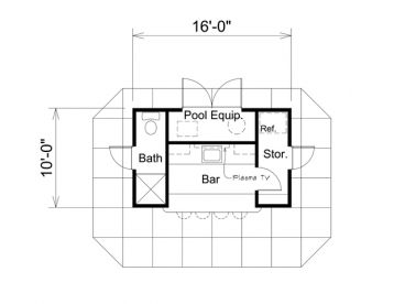 pool house floor plans with bathroom plan 10 150 just garage plans 25685