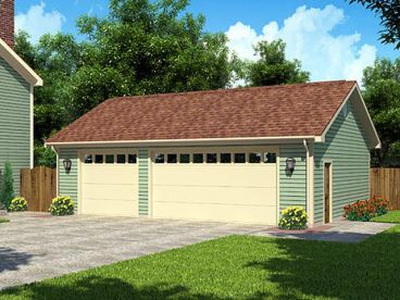 3 car garage plans 3 car garages just garage plans for Three car detached garage plans