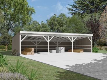 New Garage & Shed Blueprint Plans Photo Gallery - 30x30 Pole Barn