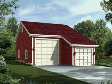 Plan 10 116 just garage plans for Garage plans with boat storage