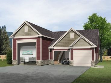 Rv garage plans with living quarters joy studio design for Rv storage building plans