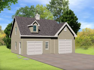 Front view for Garage plans with lift