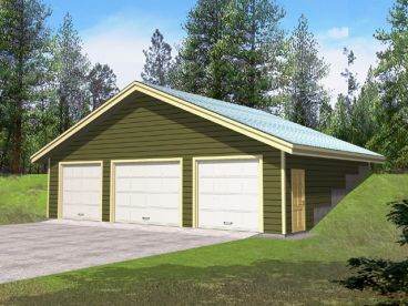 Home plans with drive through garage for California garage plans