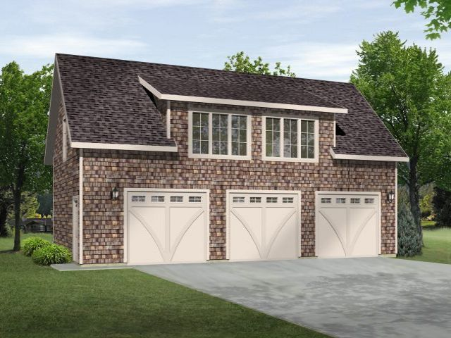 Plan 2708 just garage plans for 3 stall garage with apartment