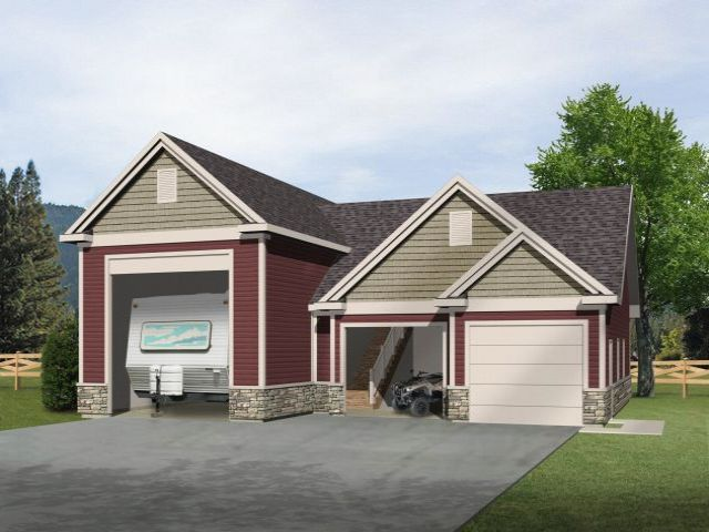 Pdf garage plans with boat storage plans free for Large garage plans