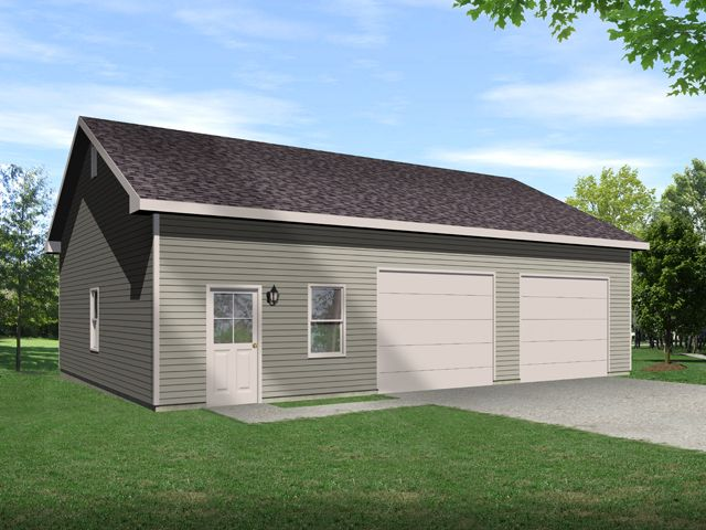 How to build 2 car garage plans pdf plans for Detached 2 car garage designs