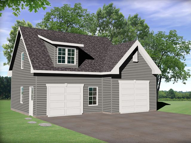 Front view for Just garage plans