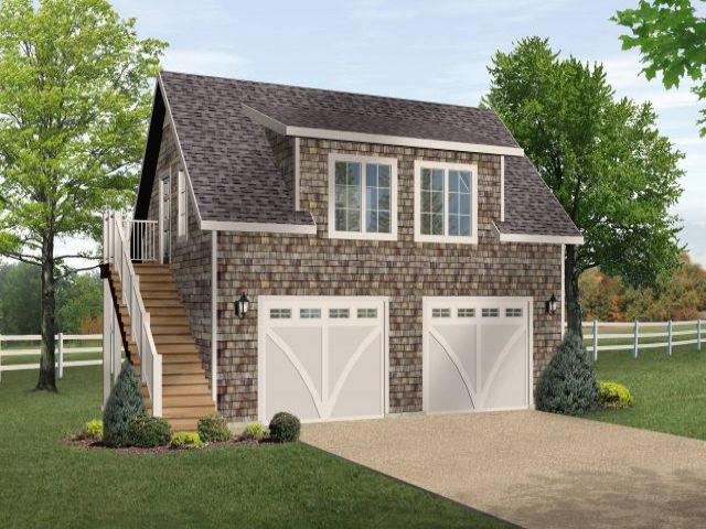 Plan 2709 just garage plans for Two car garage with workshop plans