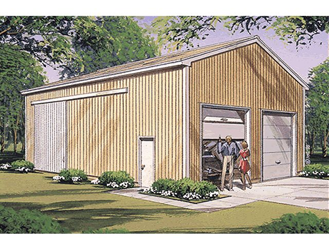 Rv storage pole building plans woodideas for Large garage plans