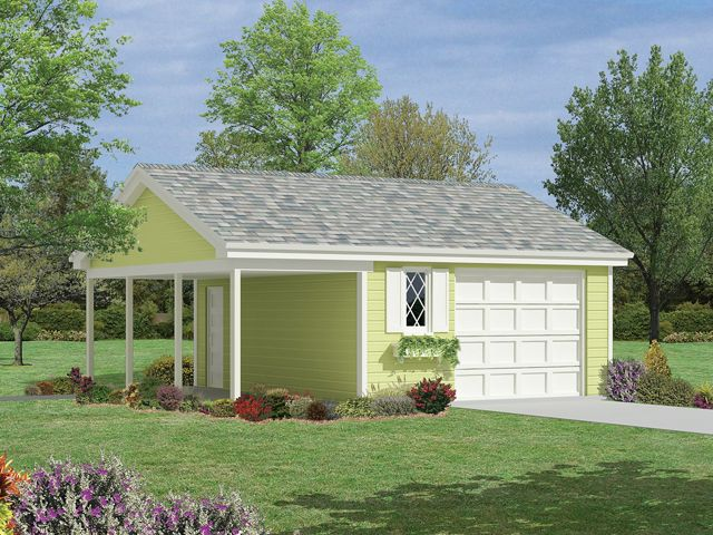 Plan 10 036 just garage plans for Single car garage plans