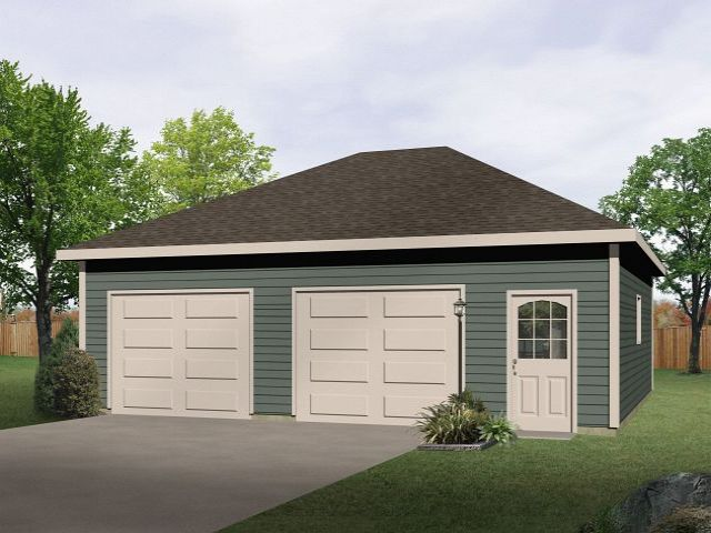 Plan 2722 just garage plans for Hip roof garage plans